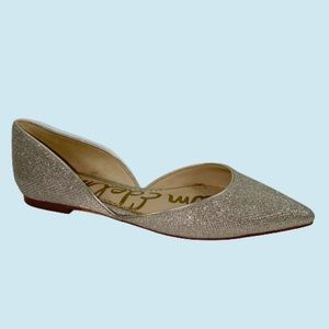 Sam Edelman Gold Glitter Rodney Pointed Flats 6.5